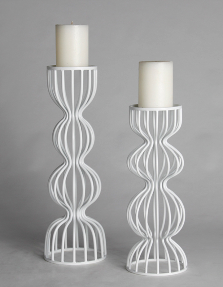 CANE metal candle holder