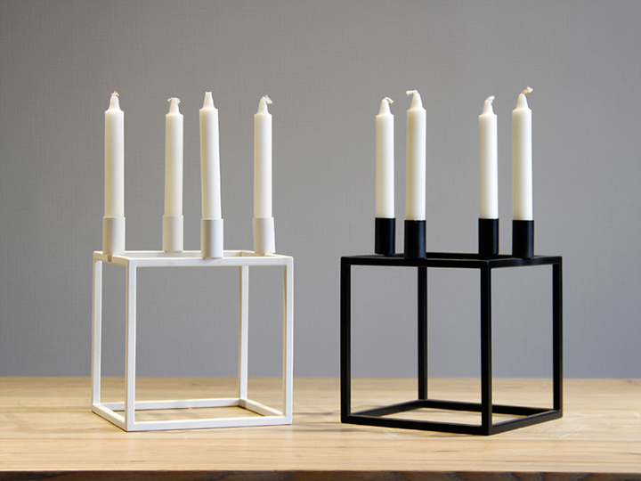 SQUARE metal candle holders